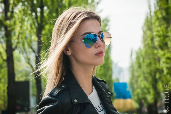 Ray-Ban Aviator Flash Lenses RB3025 019/8B на людях 3