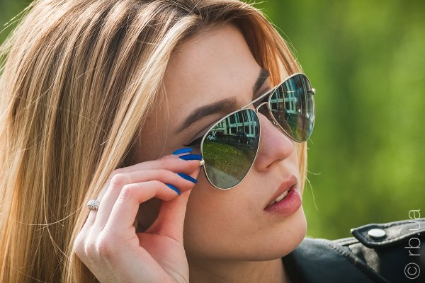 Ray-Ban Aviator Flash Lenses RB3025 019/9J на людях 7