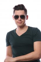 Ray-Ban Aviator Large Metal RB3025 029/71 на людях 6