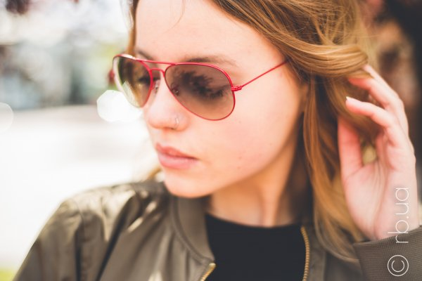 Ray-Ban Aviator Large Metal RB3025 089/32 на людях 1