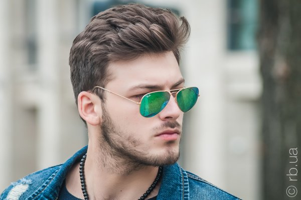 Ray-Ban Aviator Flash Lenses RB3025 112/19 на людях 10