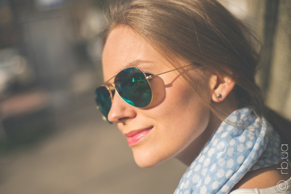 Ray-Ban Aviator Flash Lenses RB3025 112/19 на людях 6