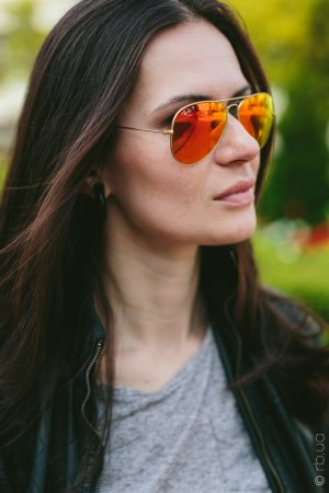 Ray-Ban Aviator Flash Lenses RB3025 112/4D на людях 1