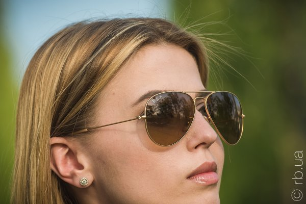 Ray-Ban Aviator Large Metal RB3025 112/M2 на людях 3