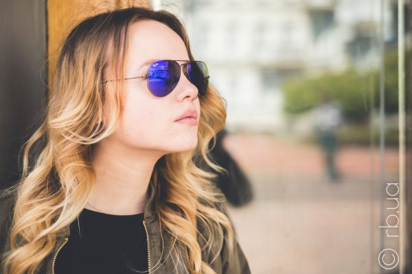 Ray-Ban Aviator Flash Lenses RB3025 167/1M на людях 6