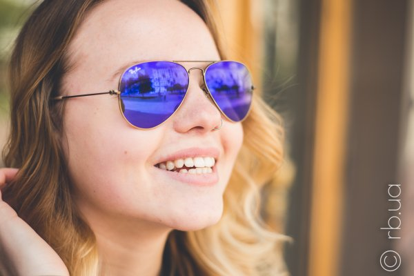 Ray-Ban Aviator Flash Lenses RB3025 167/1M на людях 7