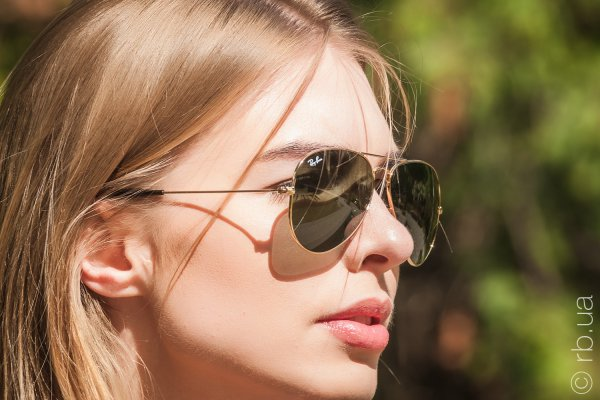 Ray-Ban Aviator Large Metal RB3025 181 на людях 5
