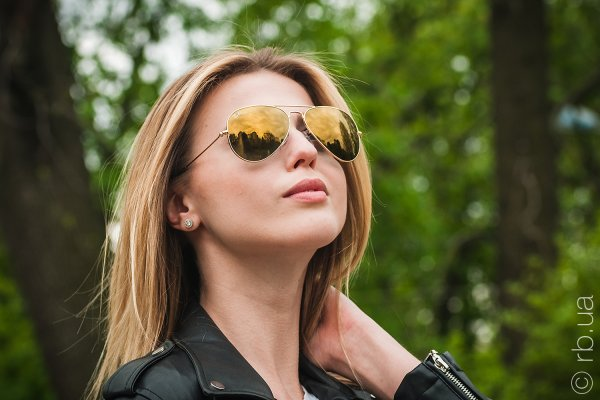 Ray-Ban Aviator Large Metal RB3025 W3276 на людях 7