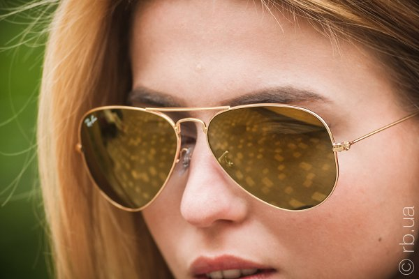 Ray-Ban Aviator Large Metal RB3025 W3276 на людях 8