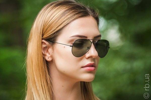 Ray-Ban Aviator Large Metal RB3025 W3361 на людях 6