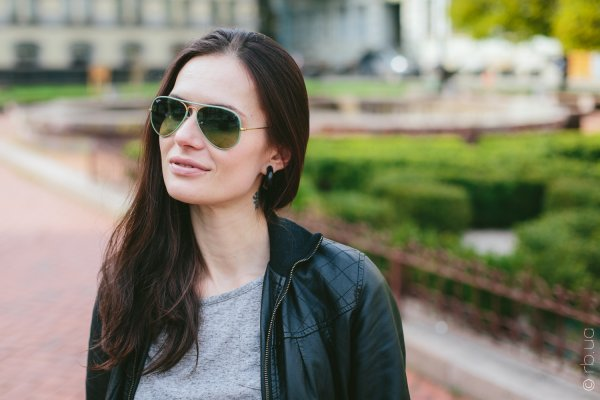 Ray-Ban Aviator Full Color RB3025JM 001/3M на людях 12