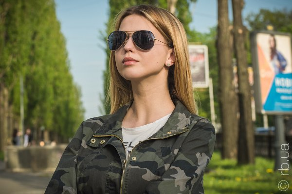 Ray-Ban Aviator Large Metal Camouflage RB3025JM 170/R5 на людях 6