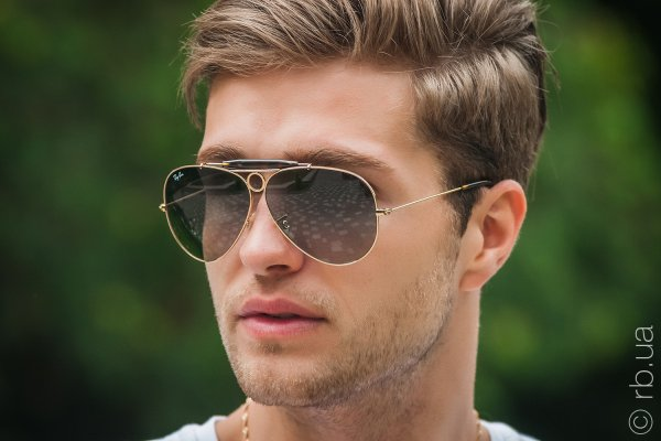 Ray-Ban Shooter RB3138 181/71 на людях 6