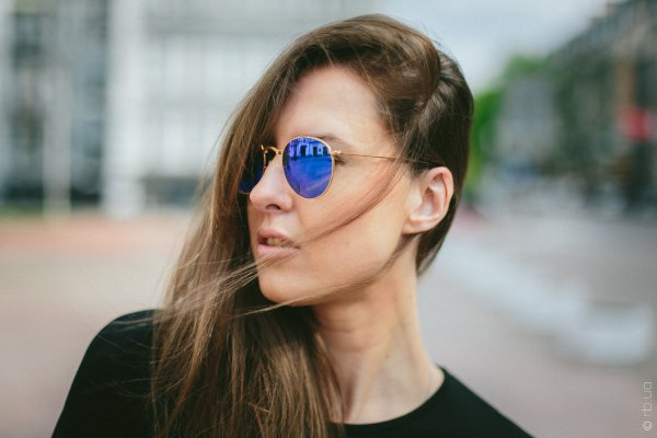 Ray-Ban Round Metal Flash Lenses RB3447 112/4L на людях 8