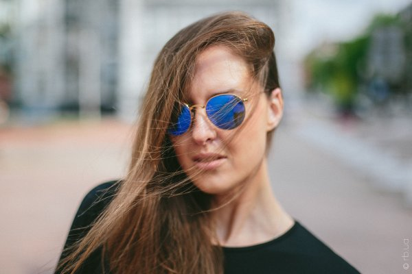 Ray-Ban Round Metal Flash Lenses RB3447 112/4L на людях 9