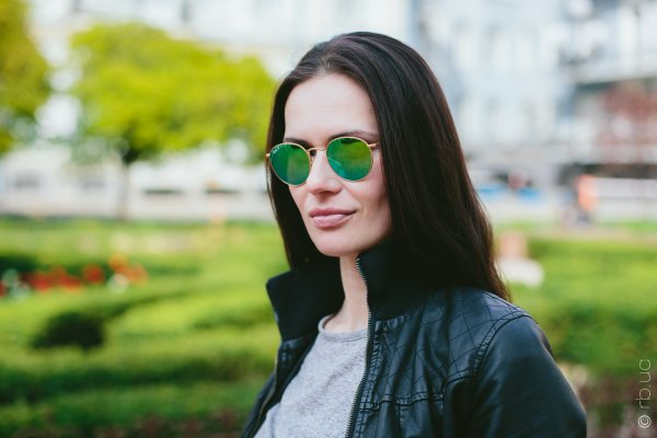 Ray-Ban Round Metal Flash Lenses RB3447 112/P9 на людях 3
