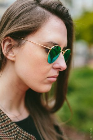 Ray-Ban Round Metal Flash Lenses RB3447 112/P9 на людях 1