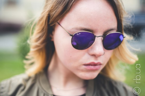 Ray-Ban Round Metal Flash Lenses RB3447 167/1M на людях 3