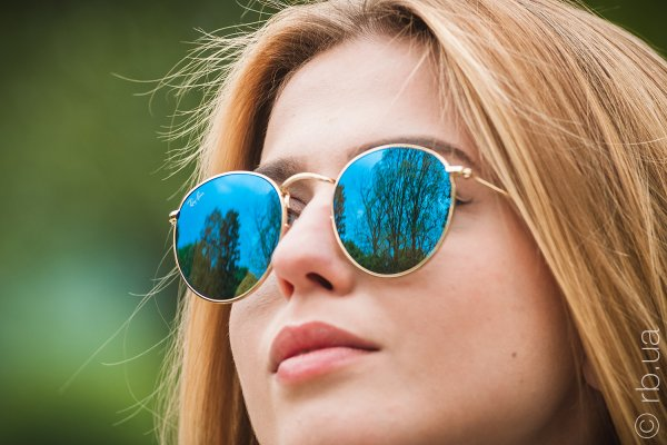 Ray-Ban Round Metal Flat Lenses RB3447N 001/9O на людях 4