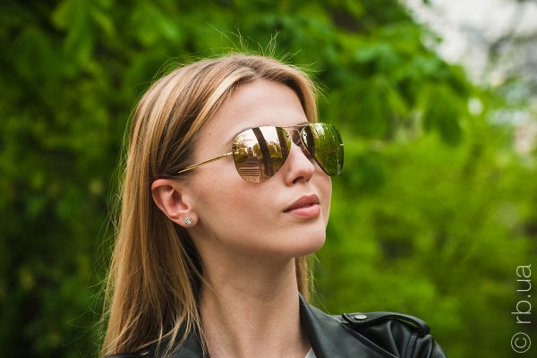 Ray-Ban Highstreet RB3449 001/2Y на людях 6