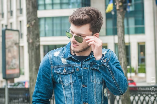 Ray-Ban Aviator Flip Out RB3460 004/2 на людях 1