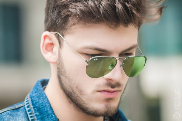 Ray-Ban Aviator Flip Out RB3460 004/2 на людях 3