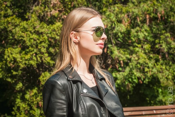 Ray-Ban Aviator Flip Out RB3460 004/2 на людях 4