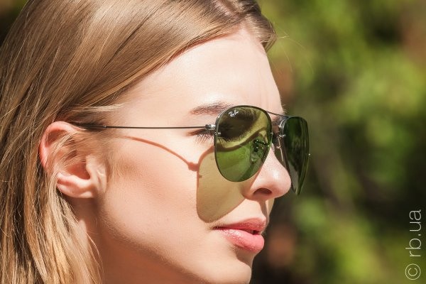 Ray-Ban Aviator Flip Out RB3460 004/2 на людях 5