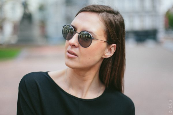 Ray-Ban Round Folding I RB3517 029/N8 на людях 2