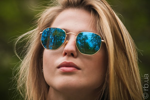 Ray-Ban Hexagonal Flat Lenses RB3548N 001/9O на людях 1