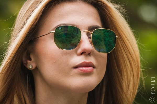 Ray-Ban Hexagonal Flat Lenses RB3548N 001/9O на людях 2