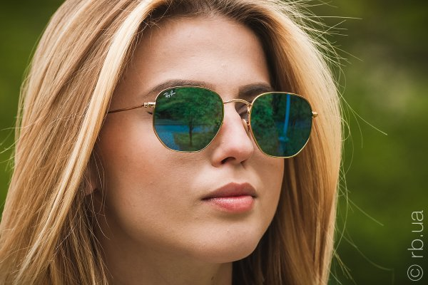 Ray-Ban Hexagonal Flat Lenses RB3548N 001/9O на людях 8