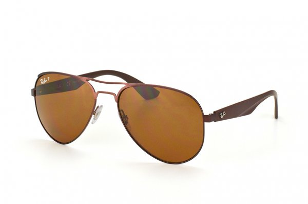 Очки Ray-Ban Active Lifestyle Aviator RB3523-012-83 Matt Brown| APX Brown Polarized P3