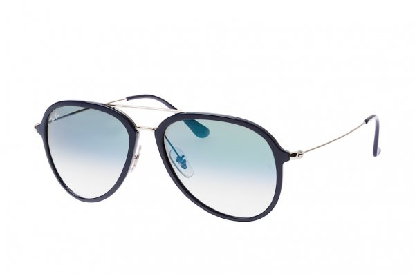 Очки Ray-Ban Active Lifestyle Aviator RB4298-6334-3A Dark Blue / Silver | Gradient Light Green