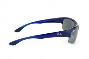 Очки Ray-Ban Active Lifestyle Flip Out RB4173-6005-T3 Blue Transparent | Gradient Grey Polarized