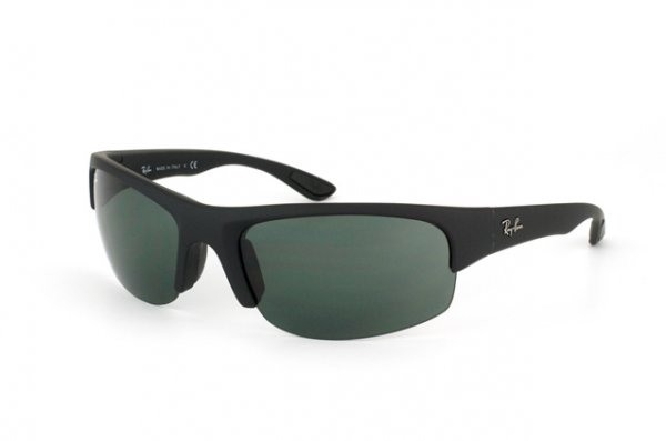 Очки Ray-Ban Active Lifestyle Flip Out RB4173-622-71 Black Rubber | Poly. Grey/Green