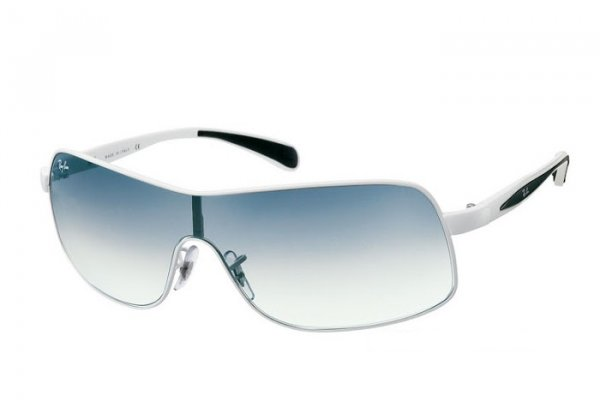 Очки Ray-Ban Active Lifestyle RB3244-032-8G White Metal | Poly. Gradient Grey