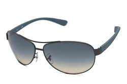 Очки Ray-Ban Active Lifestyle RB3386-006-79 Matte Black/Blue Rubber/Blue Faded Yellow