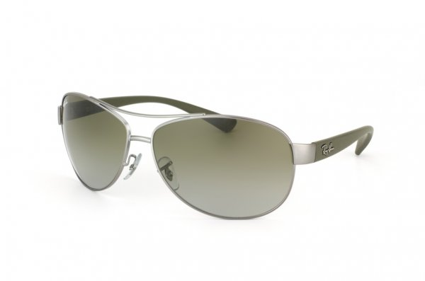Очки Ray-Ban Active Lifestyle RB3386-029-7Z Matte Gunmetal/Brown Rubber Temple | Grey/Green