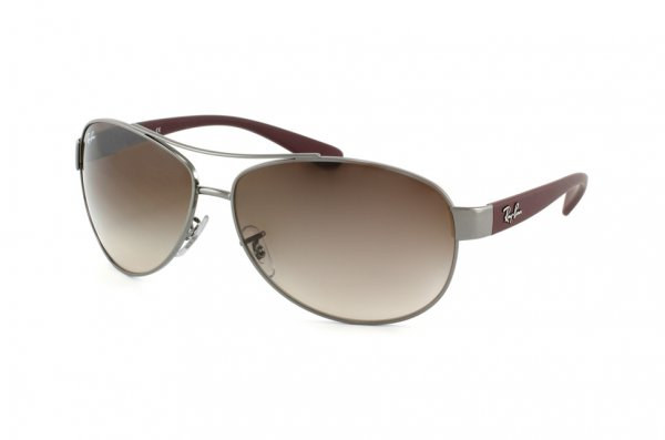 Очки Ray-Ban Active Lifestyle RB3386-106-13 Gunmetal Red Beet Rubber | Gradient Brown