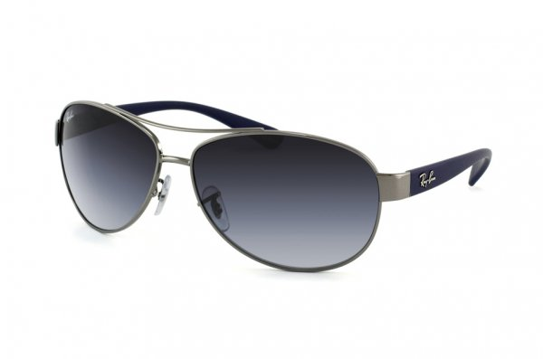 Очки Ray-Ban Active Lifestyle RB3386-107-8G Gunmetal / Blue Rubber | Gradient Grey