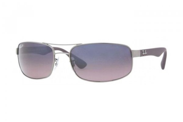 Очки Ray-Ban Active Lifestyle RB3445-029-77 Matte Gunmetal | Blue Gradient Pink Polarized