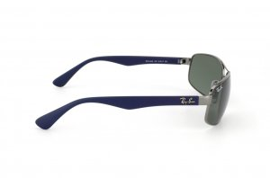 Очки Ray-Ban Active Lifestyle RB3445-107 Gunmetal/Blue Rubber | Natural Green (G-15 XLT)