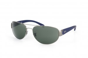 Очки Ray-Ban Active Lifestyle RB3448-107 Gunmetal / Natural Green ( G-15 XLT)