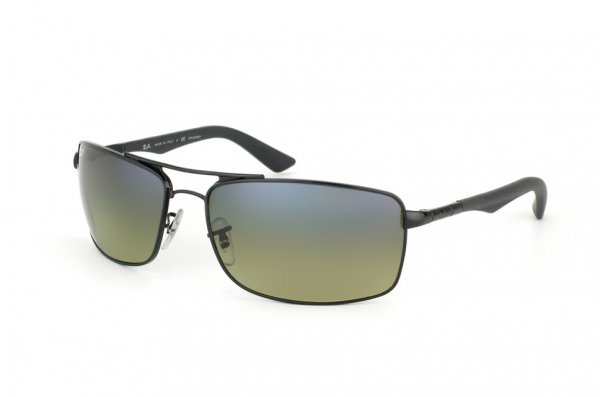 Очки Ray-Ban Active Lifestyle RB3465-002-76 Black | Blue Faded Green Polarized