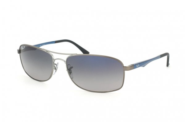 Очки Ray-Ban Active Lifestyle RB3484-029-78 Matte Gunmetal | Polarized Gradient Blue/Grey