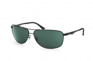Очки Ray-Ban Active Lifestyle RB3506-002-71 Black | Grey/Green