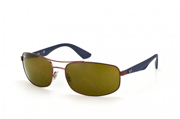 Очки Ray-Ban Active Lifestyle RB3527-012-73 Brown/Matt Blue| APX Brown
