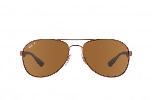 Очки Ray-Ban Active Lifestyle RB3549-012-83 Matte Brown | Poly. Brown Polarized P3
