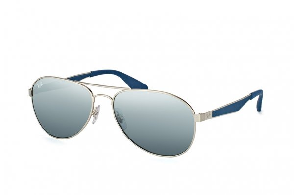 Очки Ray-Ban Active Lifestyle RB3549-9012-88 Silver/Dark Blue | Grey Silver Mirror